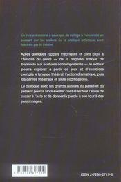 Jeux Theatraux Mettre En Scene Les Mots - 4ème de couverture - Format classique