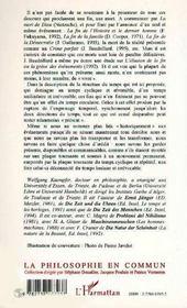 Le Double Jeu Du Temps A La Lumiere De L'Experience Humaine - 4ème de couverture - Format classique