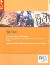 Mosaïque pour l'intérieur et l'extérieur - 4ème de couverture - Format classique