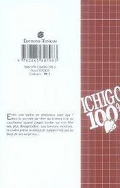 Ichigo 100% t.7 - 4ème de couverture - Format classique