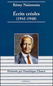 Écrits créoles (1941-1948) - Couverture - Format classique