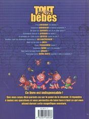 Tout Sur Les Bebes - 4ème de couverture - Format classique