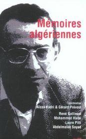 Memoires Algeriennes - Intérieur - Format classique