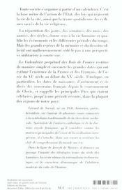 Calendrier Perpetuel Des Rois De France - 4ème de couverture - Format classique