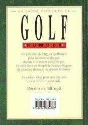 Un sacre parcours de golf - 4ème de couverture - Format classique