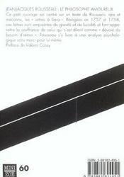 Philosophe Amoureux (Le) - 4ème de couverture - Format classique