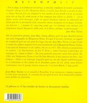5, rue Saint-Benoît, 3e étage gauche ; Marguerite Duras - 4ème de couverture - Format classique