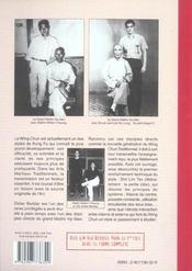 Wing chun, kung fu ; shil lim tao - 4ème de couverture - Format classique