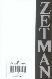 Zetman; recueil - 4ème de couverture - Format classique
