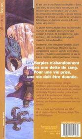 Serie De Ki Et Vandien 1 - Vol Des Harpies (Le) - 4ème de couverture - Format classique