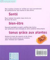 Les elixirs et les tisanes de la sagesse ; des recettes plusieurs fois centeniares pour renforcer votre immunite - 4ème de couverture - Format classique
