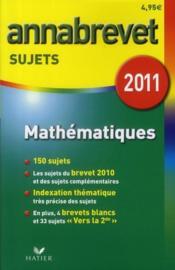télécharger ANNABREVET SUJETS T.2 ; MATHÉMATIQUES pdf epub mobi gratuit dans livres 30488491_6962855