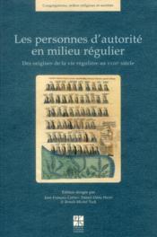 Personnes D Autorite En Milieu Regulier - Couverture - Format classique