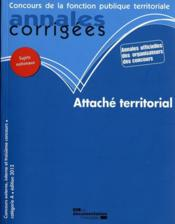 Vente livre :  Attaché territorial 2012  - Collectif