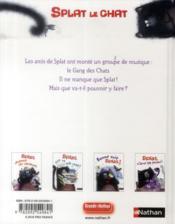 Splat et le gang des chats ! - 4ème de couverture - Format classique