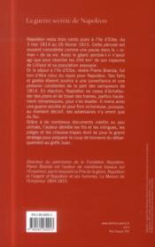 La guerre secrète de Napoléon ; île d'Elbe ; 1814-1815 - 4ème de couverture - Format classique