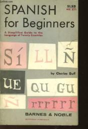 Spanish For Beginners - Couverture - Format classique
