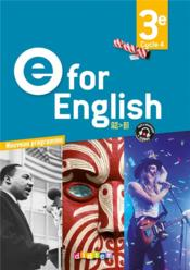 Vente livre :  E FOR ENGLISH ; 3e ; A2/B1 ; 1 dvd + 2 cd mp3 pour la classe (édition 2017)  - Melanie Herment