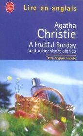 Vente livre :  A fruitful sunday and other short stories  - Agatha Christie