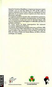 Esclavage Colonisation Liberations Nationales - 4ème de couverture - Format classique