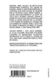 Valdez Arrive ! - 4ème de couverture - Format classique