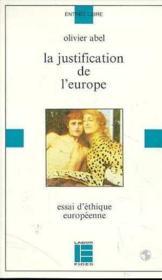 La Justification De L'Europe - Couverture - Format classique