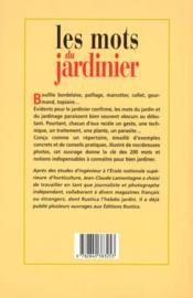 Les mots du jardinier - 4ème de couverture - Format classique
