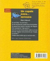 Un Copain Extraterrestre - 4ème de couverture - Format classique