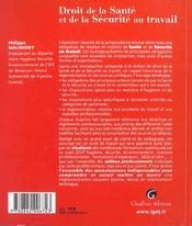 Zoom's droit de la sante et de la securite sociale - 4ème de couverture - Format classique