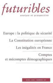 Europe : la politique de securite - Couverture - Format classique