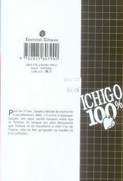 Ichigo 100% t.8 - 4ème de couverture - Format classique