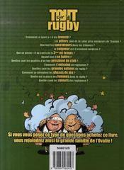 Tout sur le rugby - 4ème de couverture - Format classique