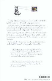 Des Enfances Volees Par La Television - 4ème de couverture - Format classique