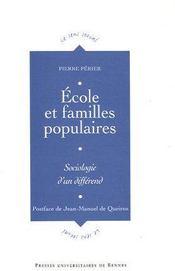 Ecole et familles populaires - Couverture - Format classique