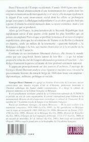 Le miracle belge de 1848 - 4ème de couverture - Format classique