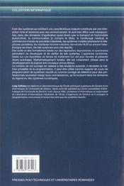 Programmation Synchrone De Systemes Reactifs Avec Esterel Et Les Syncharts - 4ème de couverture - Format classique