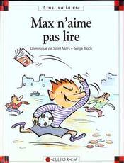 Max n'aime pas lire - Intérieur - Format classique
