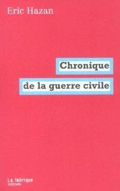 Chronique de la guerre civile - Intérieur - Format classique