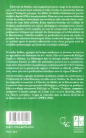 Medee - 4ème de couverture - Format classique