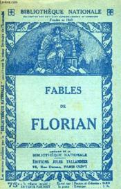 Fables De Florian. - Couverture - Format classique