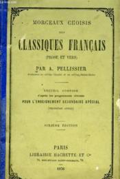 Morceaux Choisis Des Classiques Francais (Prose Et Vers) - Couverture - Format classique