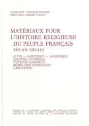 Matériaux pour l'histoire religieuse du peuple français, XIX et XX siècle t.3 - Couverture - Format classique