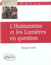 L'Humanisme Et Les Lumieres En Question - Intérieur - Format classique