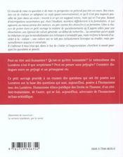 L'Humanisme Et Les Lumieres En Question - 4ème de couverture - Format classique