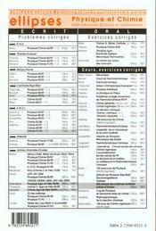 Problemes Corriges De Chimie Agro-Veto Tome 2 1990-1994 - 4ème de couverture - Format classique