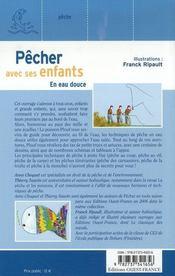 Pêcher avec ses enfants en eau douce - 4ème de couverture - Format classique