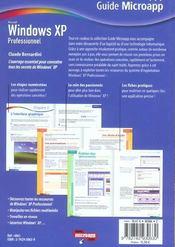 Windows Xp Professionnel - 4ème de couverture - Format classique