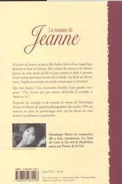 Le Roman De Jeanne - 4ème de couverture - Format classique