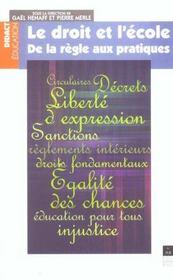 Droit Et L Ecole - Intérieur - Format classique