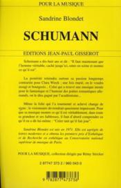 Schumann - 4ème de couverture - Format classique